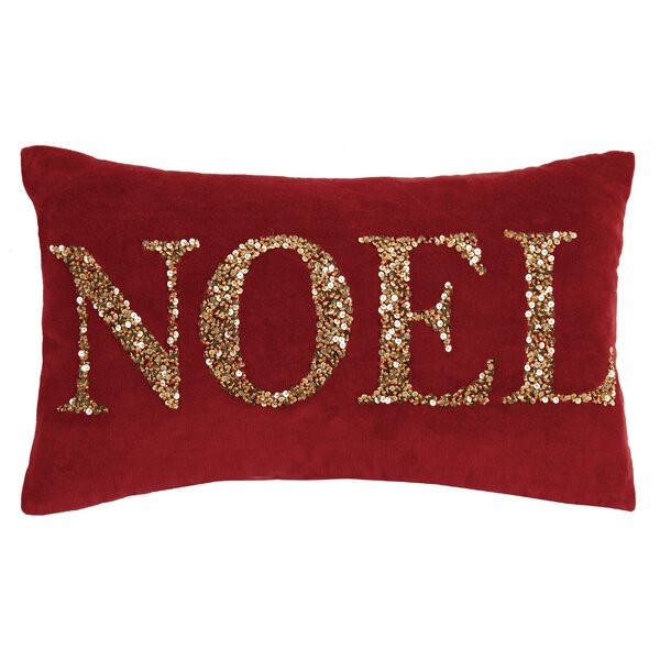Sorrento Holiday Beaded 100% Cotton Throw Pillow by Alcott Hill